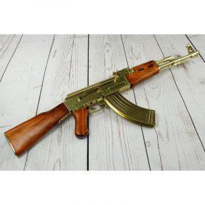 Fusil Kalashnikov AK-47 dorado DENIX