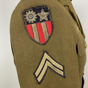 Chaqueta de Servicio de la USAF 2ª Guerra Mundial China-Burma-India