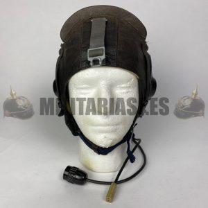 Gorro de cuero para piloto de caza Soviético