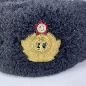 Ushanka de oficial de la Marina Soviética