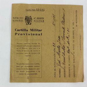 Cartilla Militar Provisional años 40