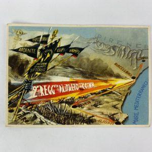 Postal de la Division de Asalto LITTORIO CTV Guerra Civil
