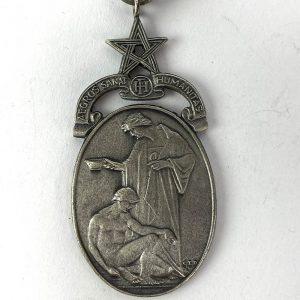 Medalla masónica Aegros Sanat Humanitas