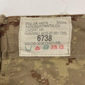 Pantalón Militar Ejercito Canada CADPAT Arido