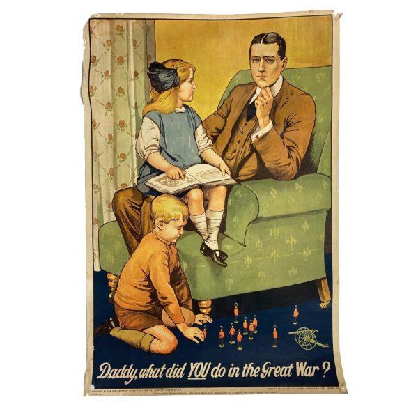 Cartel Propagandístico Británico WW1. Reproducción 1969