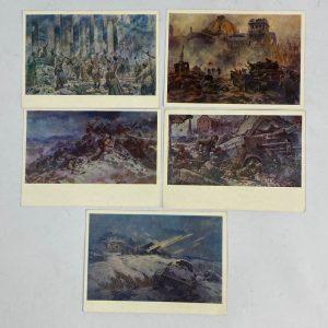 Tarjetas postales Soviéticas 2ª Guerra Mundial
