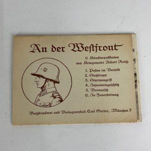 Tarjetas Postales Alemanas An der Westfront WW2