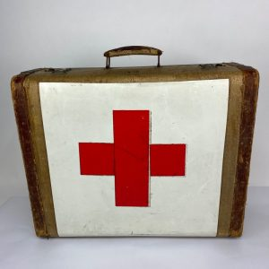 Maleta de cuero y lona Cruz Roja