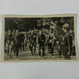 Tarjeta Postal Italiana de Mussolini
