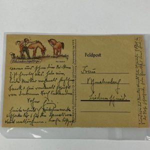 Tarjeta Postal Alemana WW2 1943