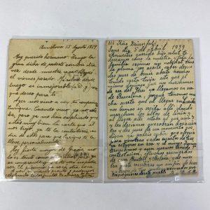 Pareja de Tarjetas Postales de la Guerra Civil 1939