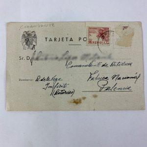 Tarjeta Postal Militar 1948 Fabrica Nacional Palencia