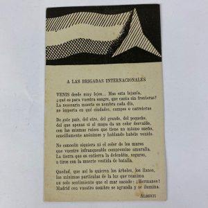 Poema a las Brigadas Internacionales alberti