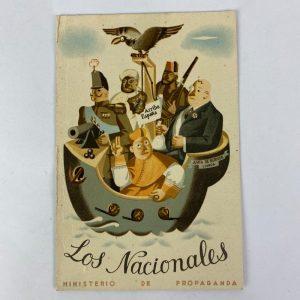 Tarjeta Postal Los Nacionales Guerra Civil