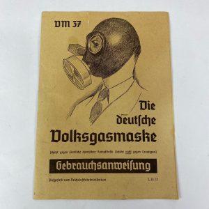german manual vm 37 gas mask