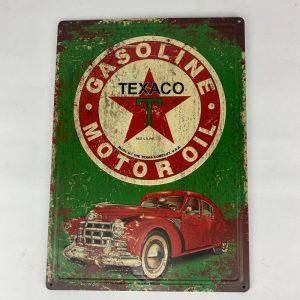 Cartel TEXACO Gasoline Motor Oil