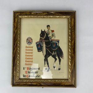 cuadro primer regimiento de caballeria extranjera