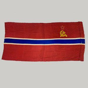 Bandera sovietica Uzbekistán